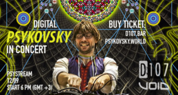 Party Flyer PsyStream - Digital PSYKOVSKY in concert 12 Sep '19, 18:00