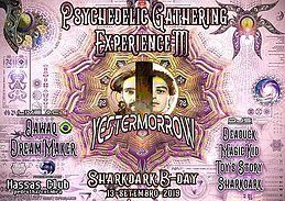 Party Flyer Psychedelic Gathering Experience#3 - Sharkdark B-DAY PARTY 13 Sep '19, 23:00