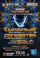 Party Flyer Lunarave / Conwerter & Cosmic Spiral in Athens on Sat 14 Sept !!! 14 Sep '19, 23:30
