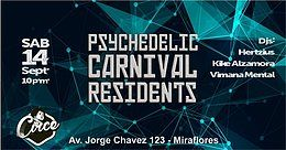 Party Flyer Psychedelic Carnival Residents 14 Sep '19, 22:00