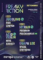 Party Flyer FREAKY FICTION 18 Sep '19, 23:00