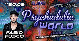 Party Flyer Psychedelic World   Fabio Fusco Live 20 Sep '19, 23:00