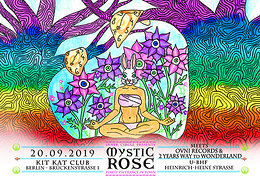 Party Flyer The Mystic Rose meets Ovni Rec & 2 Year Way to Wonderland 20 Sep '19, 23:00