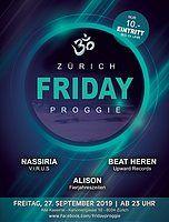 Party Flyer Friday Proggie 27 Sep '19, 23:00
