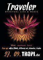 Party Flyer Traveler - spiritual life & music 27 Sep '19, 22:00