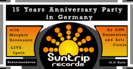 Party Flyer 15 Years Suntrip Records Anniversary in Germany 2 Oct '19, 23:00