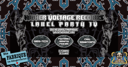Party Flyer Higher Voltage Records Label Party Nr. IV 4 Oct '19, 23:00