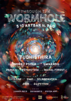 Party Flyer Through the Wormhole - psychedelic rave voyage 5 Oct '19, 21:00