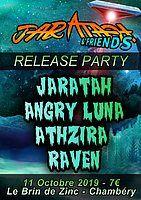 Party Flyer Jaratah Release Party : Jaratah / Angry Luna / Athzira / Raven 11 Oct '19, 20:30