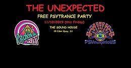 Party Flyer The Unexpected - Free Psytrance Party (this Friday) 11 Oct '19, 23:00