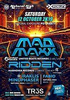 Party Flyer Natural Exposure presents Mad Maxx & Ridden in Athens 12 Oct '19, 23:30