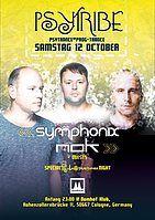 Party Flyer Psytribe mit symphonix&nok 12 Oct '19, 23:00