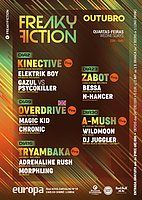 Party Flyer FREAKY FICTION 16. Okt. 19, 23:00