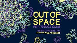 Party Flyer OUT of SPACE 17. Okt. 19, 22:00
