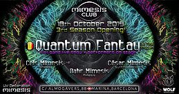 Party Flyer Mimesis CLUB 3rd Season Opening - w/ Quantum Fantay full Band! 18 Oct '19, 23:30