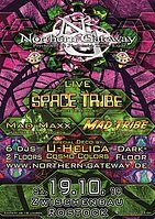 Party Flyer Northern Gateway - Space Tribe, Mad Maxx & Mad Tribe + Darkfloor 19 Oct '19, 23:00