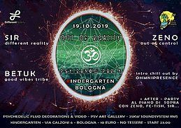 Party Flyer Out of Reality - ॐ Psytrance Party ॐ + after al piano di sopra 19 Oct '19, 23:00