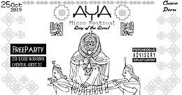 Party Flyer AYA -Day of the Dead - Showcase - FreeParty 25 Oct '19, 21:30