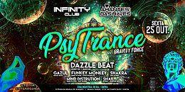 Party Flyer Hamsá Psytrybo & Infinity Club - PsyTrance . GravityForce 25 Oct '19, 23:30