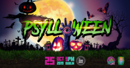 Party Flyer Psylloween 2019 with E.V.P and Krosis 25 Oct '19, 21:00