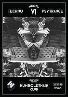 Party Flyer TECHNO meets PSYTRANCE IV 25 Oct '19, 23:00