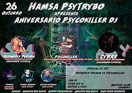 Party Flyer Hamsa Psytrybo Apresenta 2º Aniversário Do Psycokiller dj7 26 Oct '19, 23:30