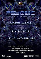 Party Flyer EPIC Tribe pres. PSYONIC 27 Oct '19, 21:00