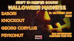 Drift In Deeper Sound - Halloween Madness 31 Oct '19, 21:00