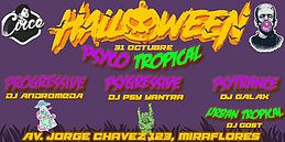 Party Flyer Halloween Psyco Tropical 31 Oct '19, 22:00