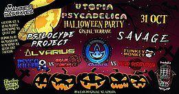 Party Flyer ॐHamsá PsyTrybo & Utopia Psycadelicaॐ Halloween Special Night ॐ 31 Oct '19, 23:00