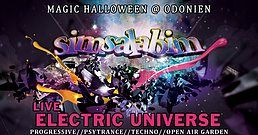 Party Flyer S*i*m*s*a*l*a*b*i*m* Magic Halloween / Electric Universe Live 31 Oct '19, 21:00