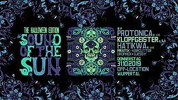 Party Flyer Sound of the Sun / Protonica / Klopfgeister / Hatikwa Live uvm. 31 Oct '19, 22:00