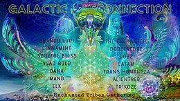 Party Flyer ∞ Galactic ReConnection - Enchanted Tribes Gathering ∞ 1 Nov '19, 19:00