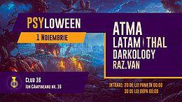 Party Flyer Psyloween 2019 Bucuresti 1 Nov '19, 22:00