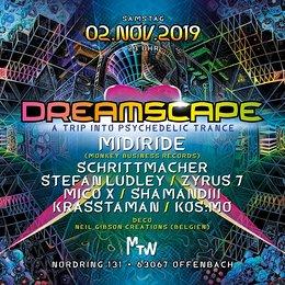 Party Flyer Dreamscape with Midiride & Neil Gibson 2 Nov '19, 23:00