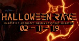 Party Flyer Halloween Rave - Goa & DnB 2 Nov '19, 22:00