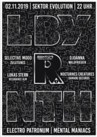 Party Flyer LBY R NTH II w/ Selective Mood und Nocturnes Creatures *live* 2 Nov '19, 22:00