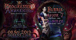 Party Flyer Psybox Progressive Awakening - Bubble Major7 XNoize 8 Nov '19, 22:00