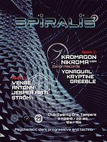 Party Flyer SPIRALIS : Kromagon & Nikroma 8 Nov '19, 22:00