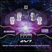 Party Flyer Quadrasonic - Psytrance in Surround Sound First time in Lisboa 9 Nov '19, 22:00