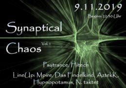 Party Flyer SynapticalChaos Vol. 1 9 Nov '19, 22:30