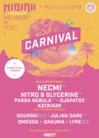 Party Flyer Nibirii Carnival: iDirty Showcase w/ Necmi, Parra + Gourski uvm. 11 Nov '19, 17:00