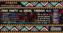 Party Flyer Hamsá Psytrybo & Utopia Psycadelica Free Party #10 at Ginjal 15 Nov '19, 23:00
