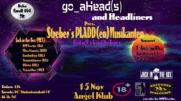Party Flyer ૐ Streber's PLADD(en)-MUSIKANTEN - Best in D'N'B & PsyTrance ૐ 15 Nov '19, 22:00