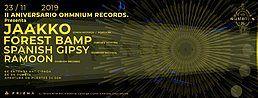 Party Flyer Ohmnium Records Anniversary : PRISMA INVITA 23 Nov '19, 23:30