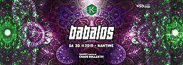 Party Flyer Babalos · Psylife · Kantine Salzburg 30 Nov '19, 22:00