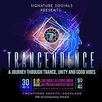 Party Flyer Tracendence Skycity 30 Nov '19, 21:00