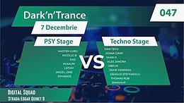 Party Flyer Dark'N'Trance 047 Psy vs Techno (2 Scene) 7 Dec '19, 21:00