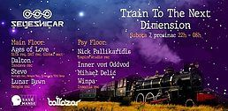 Party Flyer Train to the next dimension vol 4. 7 Dec '19, 22:00