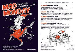 Party Flyer Mad Monday presents Holy Techno Night 9 Dec '19, 23:00